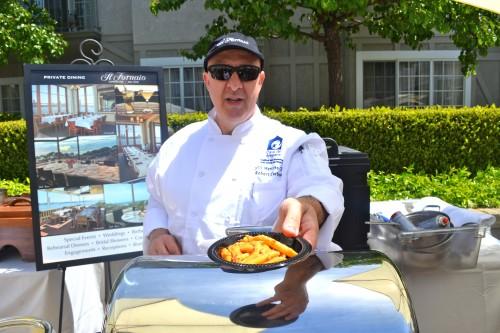 Chef Roberto Carboni or II Fornaio services up his delicious Pennoni all Vodka.
