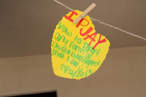 PJay's pledge to end child abuse.