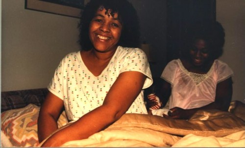 Mom visiting Sonya  after the birth of her son.