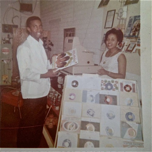Walter Hopkins and former wife Lula owners of Hopkins Record shop.