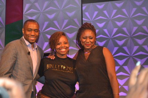 Dr. Marc Lamont Hill, moderates conversation on #BlackLivesMatter with Founders, Patrisse Cullors and Alicia Garza