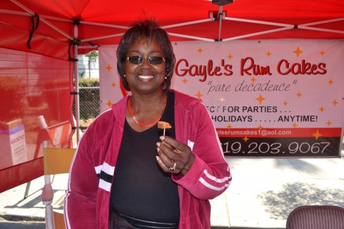 Food Vendor, Gayle's Rum Cake was on hand to provide samples.