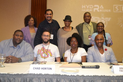 (L-R) Front Row:  Leonard Thompson, Chad Horton, Vicki Mack Lataillade, Anthony Faulkner. Top:  Aundrae Russell, Vic McClean, Lin Woods