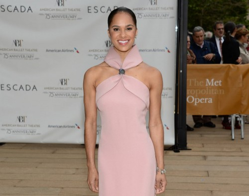 Misty Copeland attends the American Ballet Theatre's 75th Anniversary Diamond Jubilee Spring Gala at the Metropolitan Opera House on Monday, May 18, 2015, in New York. (Photo by Evan Agostini/Invision/AP)