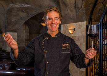Executive Chef Luciano Cibelli welcomes all to Pala Casino's new underground wine CAVE for lounge dining, fine wine and entertainment.