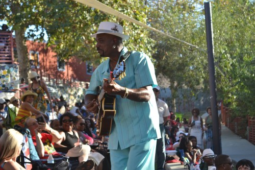 Guitarist Nick Colionne, intimately serenades the audience at San Diego Jazz at the Creek July 15, 2015.