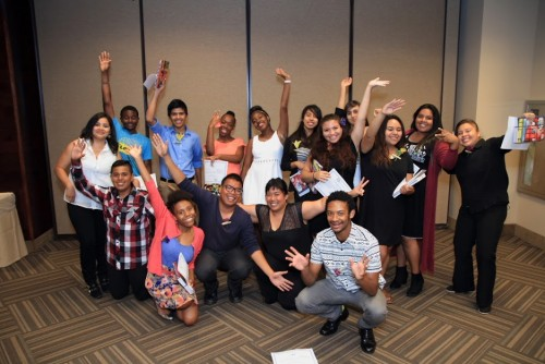 San Diego students celebrate successfully completing the 2015 Full STE[+a]M Ahead program