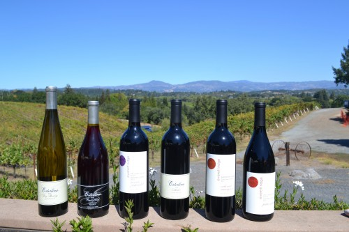The Sterling's 250 acre spread Their 250-acre spread's pinot noir, dry riesling and riesling wines.