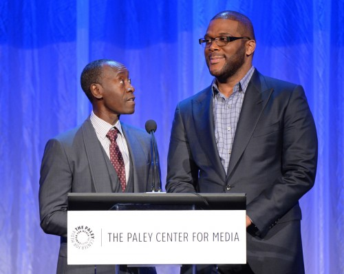 BEVERLY HILLS, CA – OCTOBER 26, 2015 (L-R): Don Cheadle and Tyler Perry attend The Paley Center for Media's Hollywood Tribute to African-American Achievements in Television, presented by JPMorgan Chase & Co., on Monday, October 26 at the Beverly Wilshire Hotel in Beverly Hills, California Photo credit: The Paley Center for Media