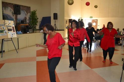 FDSRC Seasoned Line Dancers perform during intermission.