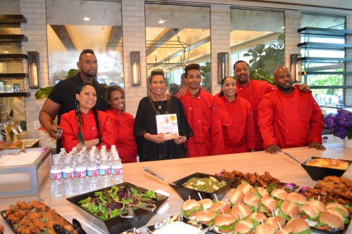 """The cast and staff of OWN's """"Welcome to Sweetie Pie's,"""" and Sweetie Pie's restaurant."""