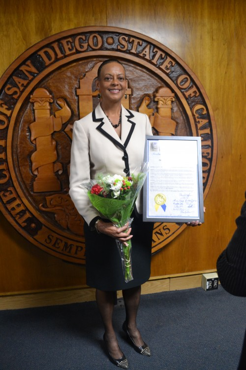 Dr. Suzanne Afflalo, M.D. of San Diego, recognized for community advocacy.