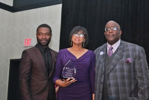 David Oyelowo, Cheryl Boone-Issacs and William D. Smart, Jr. President/ CEO SCLC-SC/Photo: Rochelle Porter, Peache Photo Memories.