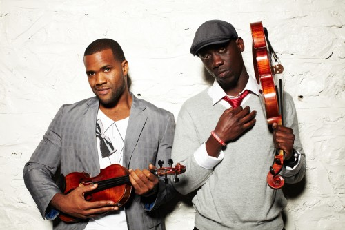 Courtesy photo Black Violin, two classically trained violinists who blend the sounds of jazz, hip-hop, funk and classical music, will perform before a presentation by Martin Luther King III, son of Dr. Martin Luther King Jr., at 7 p.m. Saturday, Feb. 23, in Sturtz Theater, Jefferson Community College, Watertown. There is no cost to attend; however, tickets are required for admittance. For more information, contact the JCC Student Activities Center at 786-2431.