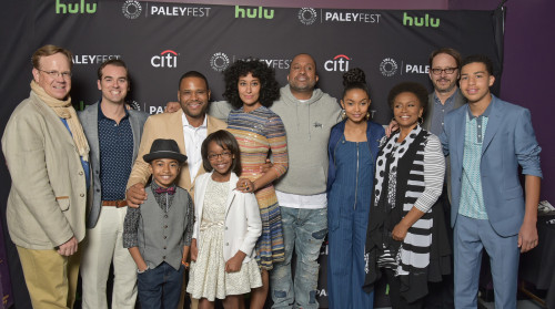HOLLYWOOD, CA - MARCH 13: Cast and creatives of black-ish at PaleyFest LA 2016 honoring black-ish, presented by The Paley Center for Media, at the Dolby Theatre on March 13, 2016 in Hollywood, California. © Michael Bulbenko for the Paley Center