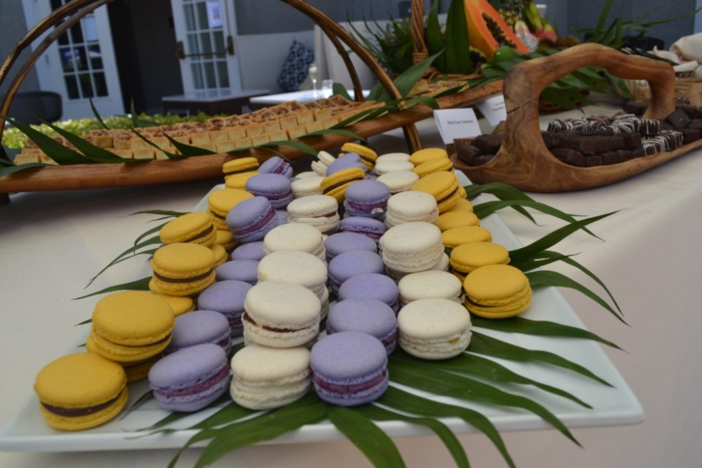 Pamplemousse Grill created these delicious macaroons in lemon, vanilla and purple in honor of the artist Prince's recent passing.