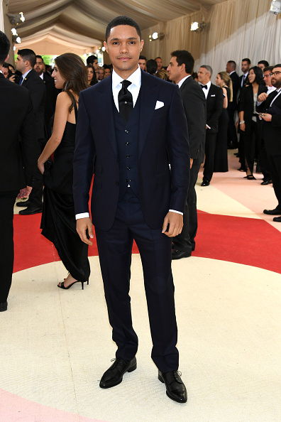 """NEW YORK, NY - MAY 02: Trevor Noah attends the """"Manus x Machina: Fashion In An Age Of Technology"""" Costume Institute Gala at Metropolitan Museum of Art on May 2, 2016 in New York City. (Photo by Larry Busacca/Getty Images)"""