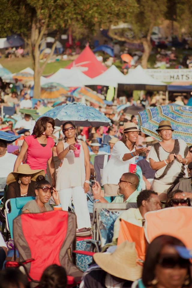 Jazz Fest West Festival patrons.