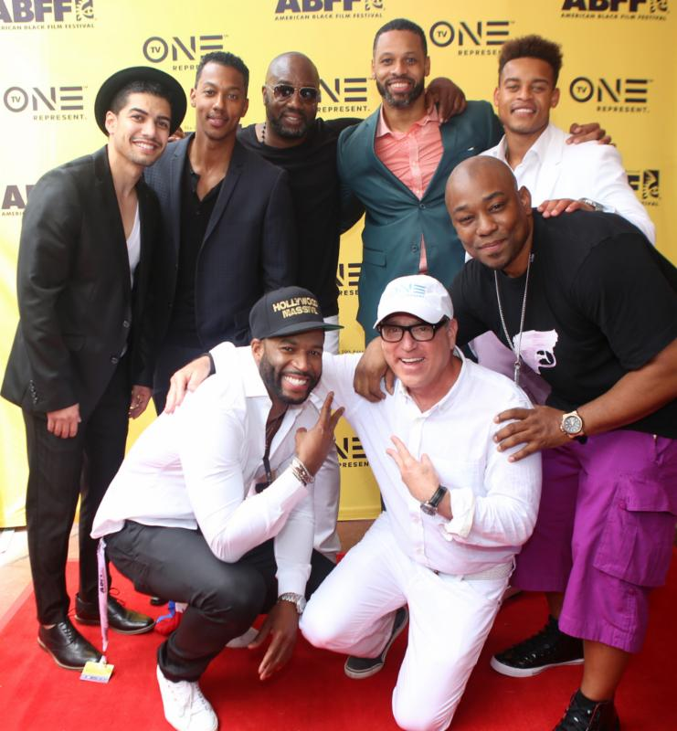 TV-One-President-Brad-Siegel-and-cast-members-of-Bad-Dad-Rehab-at-the-2016-ABFF