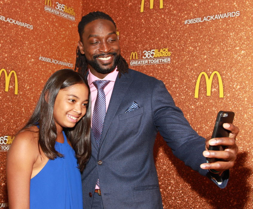 NFL Player and honoree Charles Tillman and daughter Talya Tillman attend the 13th Annual McDonald's 365 Black Awards at the Ernest Moral Convention Center in New Orleans, LA on Friday, July 1, 2016.