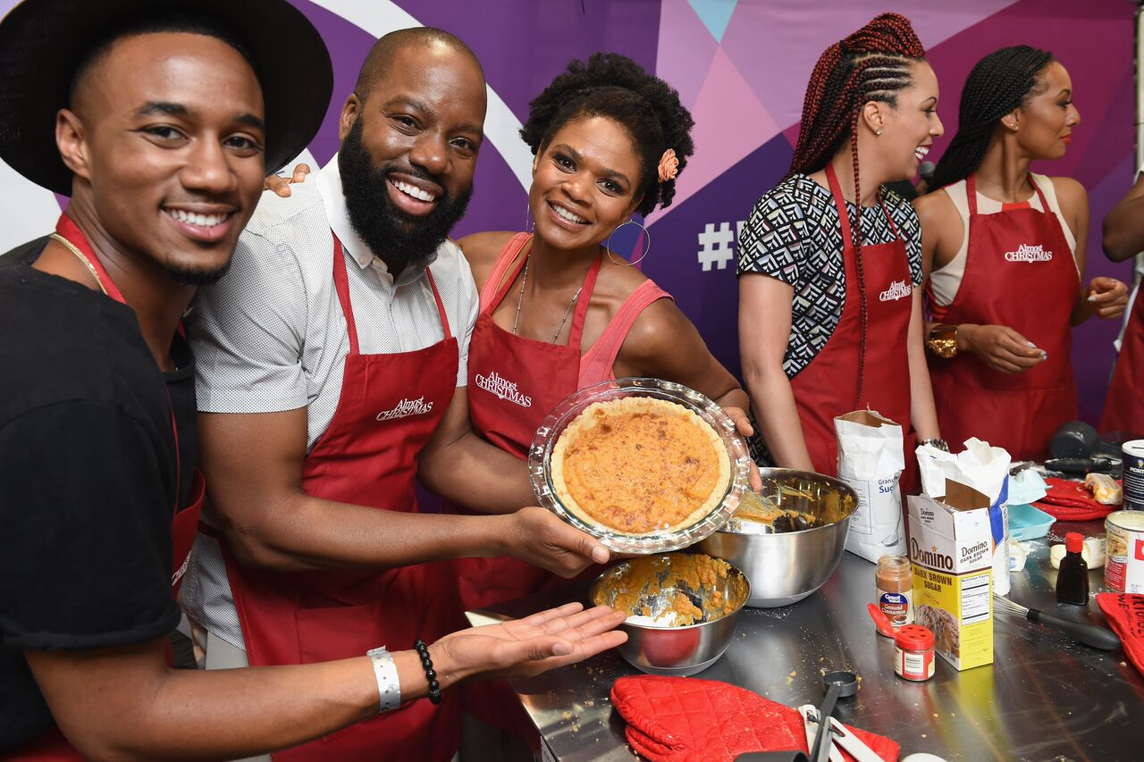 ALMOST CHRISTMAS Cast Members Kimberly Elise, Jessie T. Usher, Keri Hilson & Filmmakers At The 2016 Essence Festival/ Photo credit; Getty for Universal