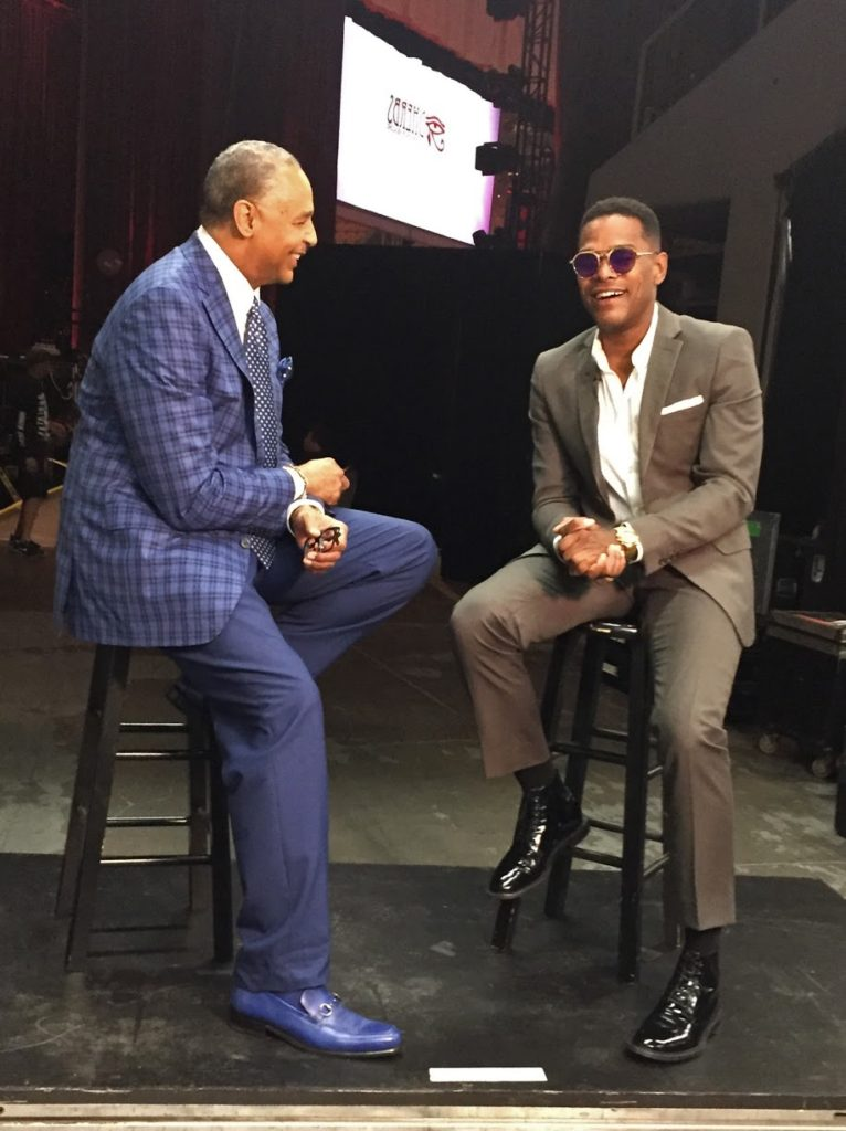 Bounce T.V. host Ed Gordon and singer-songwriter, record producer and actor Maxwell..