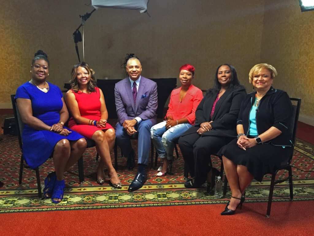 Bounce T.V. host Ed Gordon and Mothers of the Movement.