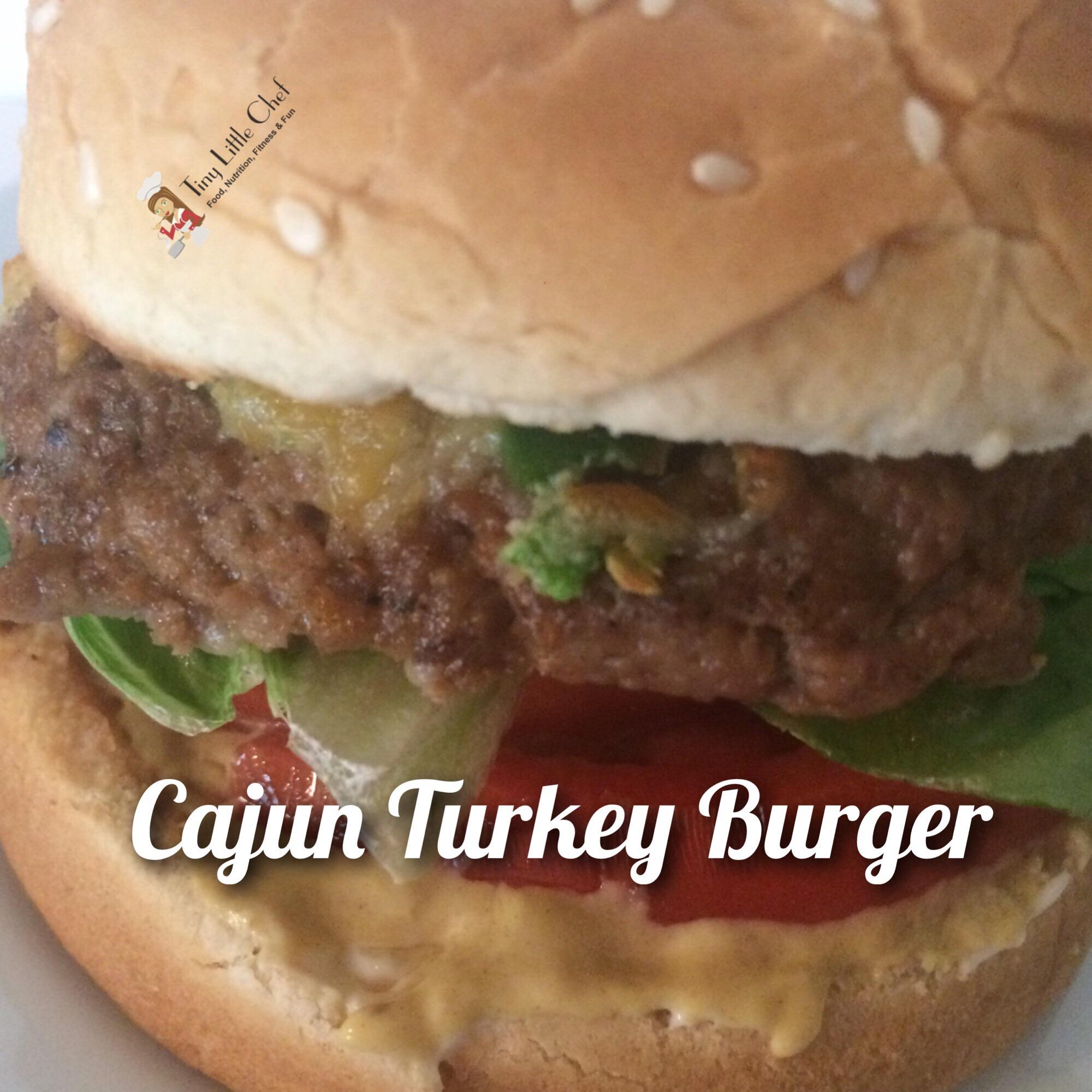 Tiny Little Chef Cajun Turkey Burger