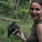 Seule, face au très agressif gorille des plaines