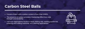 carbon steel balls information