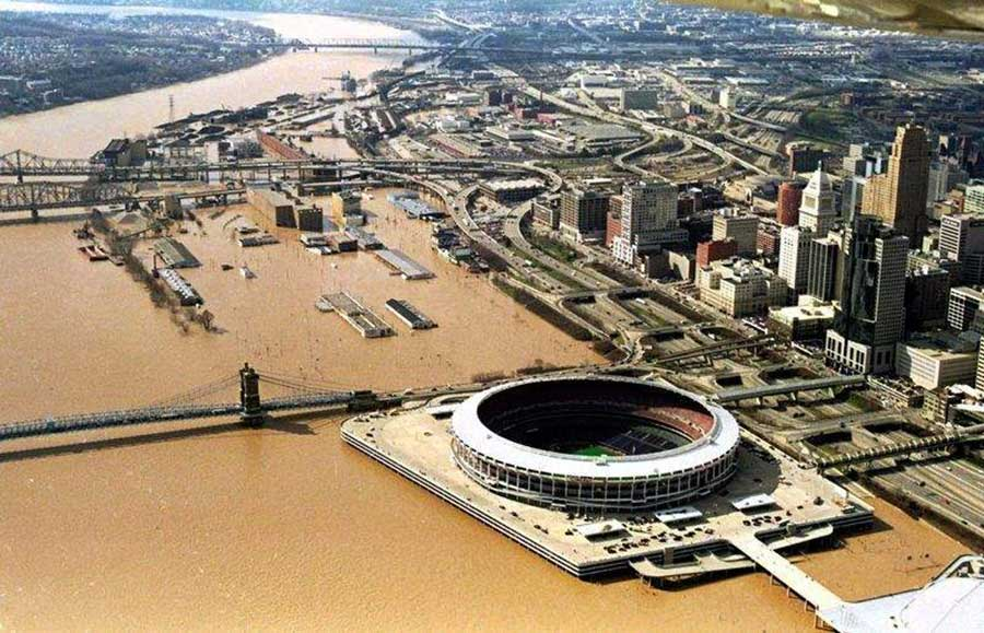 Ohio River overflows its banks