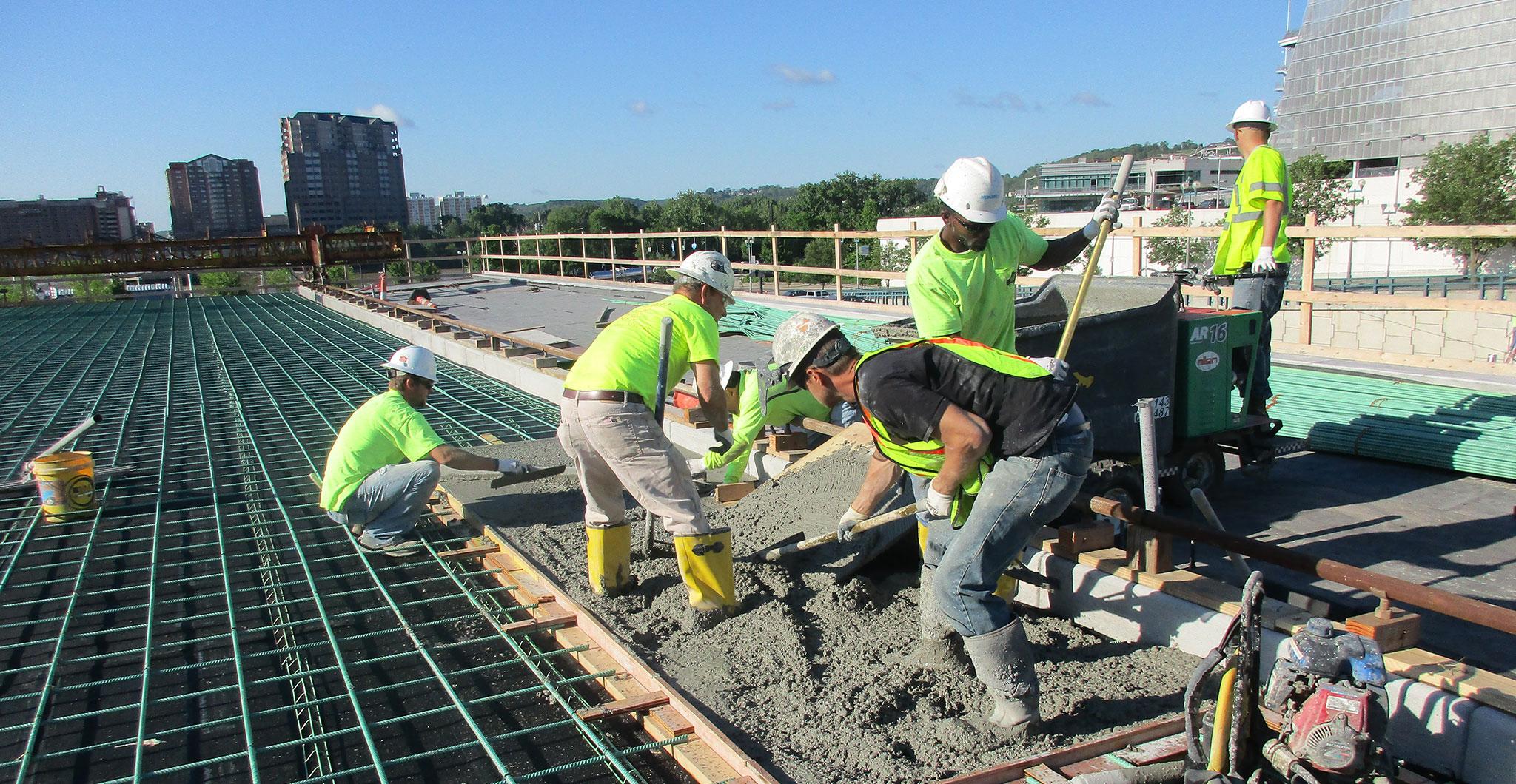 Construction at The Banks Cincinnati Project