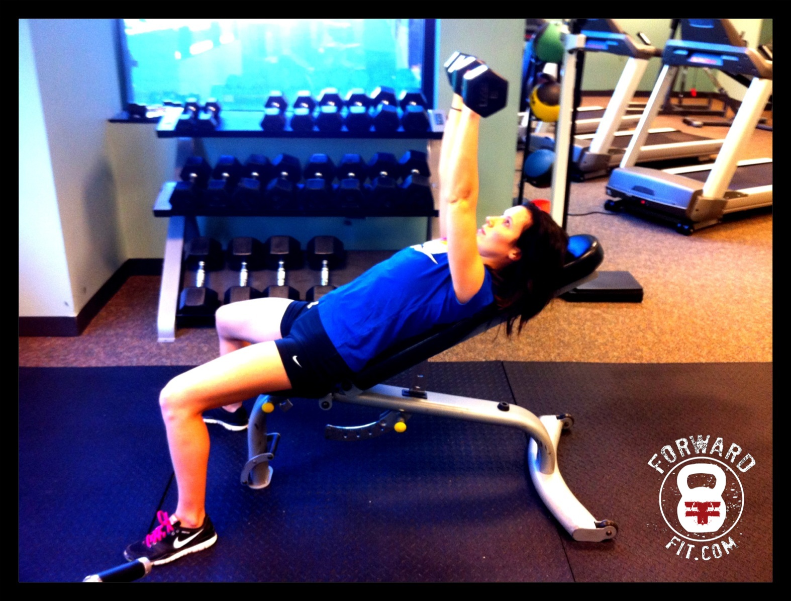 Incline Dumbbell Bench Press 1