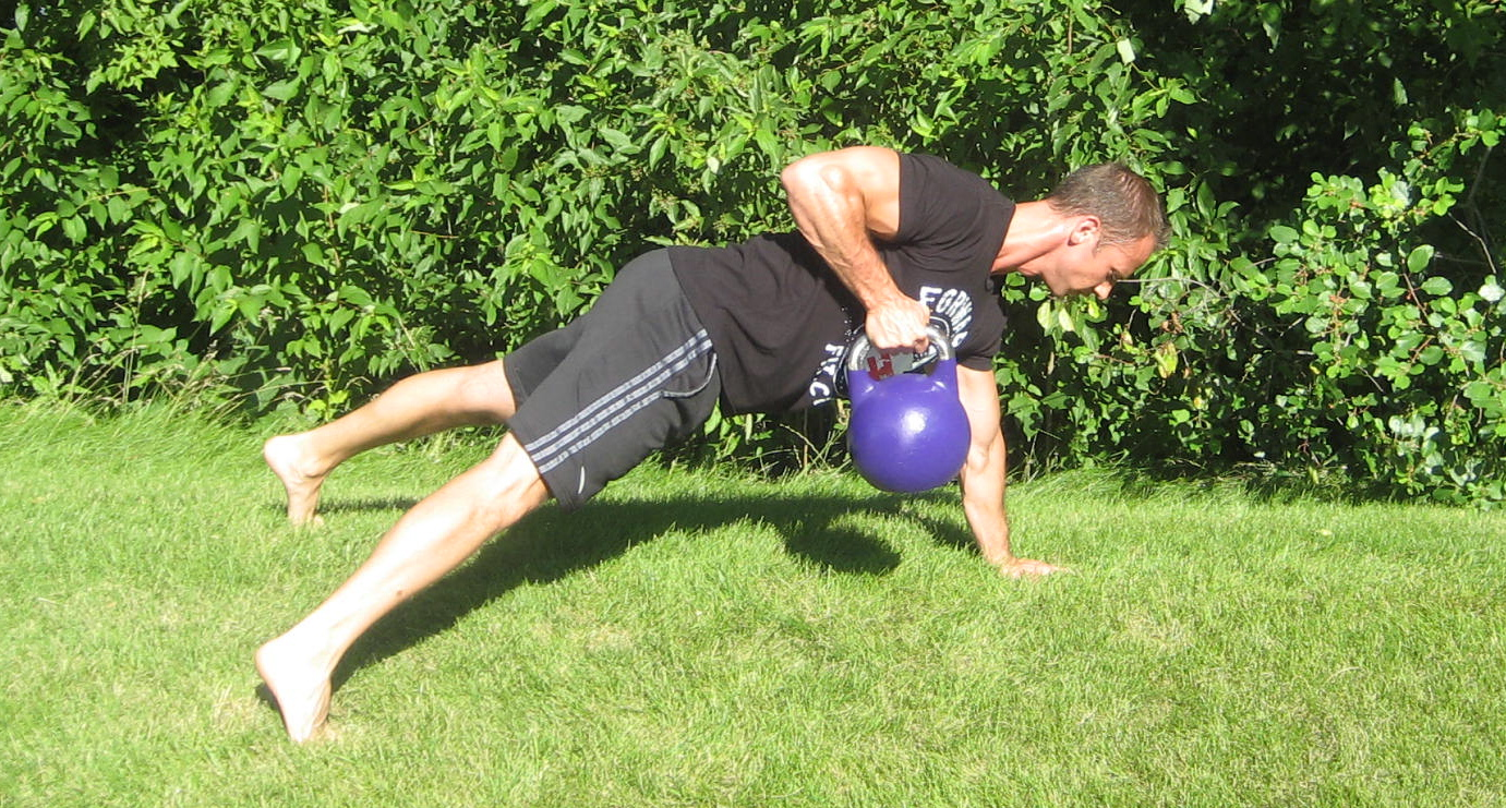 Kettlebell Pushup and Row 2
