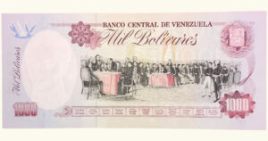 VENEZUELA 1000 Bolívares, Julio-30-1992 Serie A8 UNC