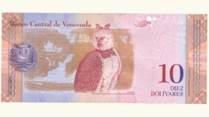 Venezuela 10 Bolívares Fuertes, Mar-20-2007, Serie A8  UNC