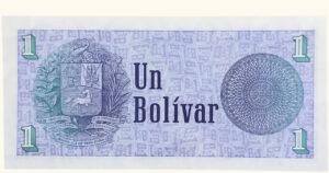 """VENEZUELA 1 Bolívar """"Tinoquito"""", Oct-05-1989, Serie F8 AU/UNC"""