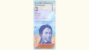 Venezuela 2 Bolívares Fuertes, Mayo-24-2007, Serie Z8 Reposición AU+/UNC