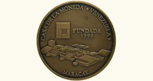 """VENEZUELA 3000 Bolívares """"Fundación de la Casa de Moneda de Venezuela"""" , 2001, UNC."""