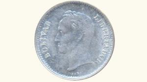 VENEZUELA 1/4 Bolívar, 1948, AU