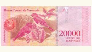 Venezuela 20000 Bolívares Fuertes, Ago-18-2016, Serie Z8 Reposición (Segundo Intervalo) UNC