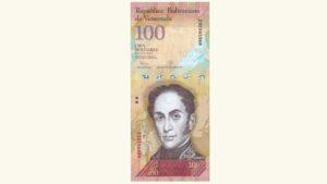 Venezuela 100 Bolívares Fuertes, Junio-23-2015, Serie Z8 Reposición (Séptimo Intervalo) UNC