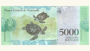 Venezuela 5000 Bolívares Fuertes, Dic-13-2017, Serie Z8 Reposición UNC
