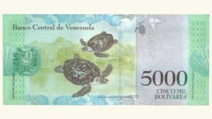 Venezuela 5000 Bolívares Fuertes, Agosto-18-2016, Serie Z8 Reposición UNC