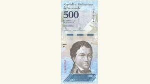 Venezuela 500 Bolívares Fuertes, Agosto-18-2016, Serie Z8 Reposición UNC