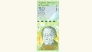 Venezuela 50 Bolívares Fuertes, Dic-19-2008, Serie Z8 Reposición AU
