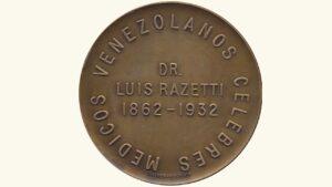 "VENEZUELA Medalla ""Dr. Luis Razetti"" XF/AU"