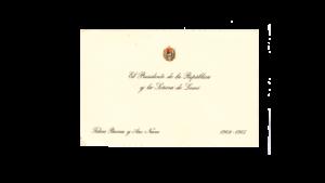VENEZUELA, Tarjeta de Salutación de Fin de Año, Presidente Dr. Raúl Leoni, 1964-1965