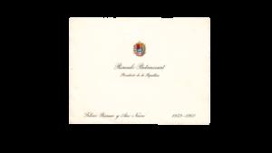 VENEZUELA, Tarjeta de Salutación de Fin de Año, Presidente Dr. Rómulo Betancourt, 1959-1960