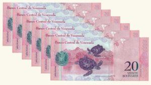 Venezuela 20 Bolívares Fuertes, Mar-20-2007, Serie Completa (A8, B8, C8, D8, E8,Z8) UNC